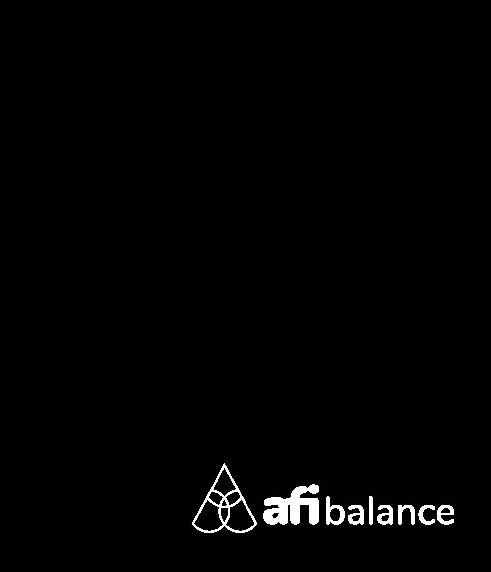 afi balance white logo half